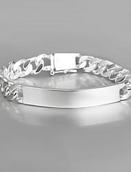 argento placcato casuale braccialetti di amicizia link / catena braccialetto caldo di moda
