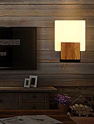 lâmpada de parede de carvalho maishang®, uma luz, carvalho e vidro