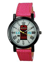 Women's Mailbox Style PU Band Quartz Analog Wrist Watch (Assorted Colors)