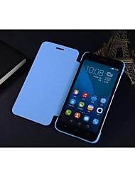 Para Funda Huawei Flip Funda Cuerpo Entero Funda Un Color Dura Cuero Sintético HuaweiHuawei P7 / Huawei Honor 6 / Huawei Honor 6 Plus /