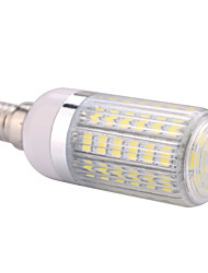 E14  15W 60x5730SMD 1500LM 2800-3200K /6000-6500K Warm White/Cool White Light LED Corn Bulb with Striped Cover (85-265V)