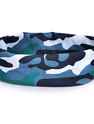 HLY-P836 Camouflage Pattern Outdoor Multifunctional Seamless Headscarf - Blue + Green + White