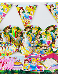 78pcs Princess Baby Birthday Party Decorations Kids Evnent Party Supplies Party Decoration