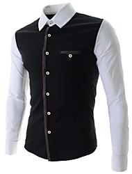 Diman Men's Long Sleeve Casual Shirts (Cotton)