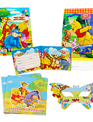 75pcs Winnie the Pooh Baby Birthday Party Decorations Kids Evnent Party Supplies Party Decoration 18 People Use