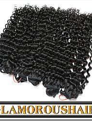 "3 Pcs/Lot 12""-30"" Cambodian Virgin Hair Color 1B Tight Curly Virgin Hair Weft"