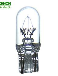 10pcs xencn t6.5 12v3w W2.2 * 5.2d interno spia del cruscotto illuminazione calibro indicatore auto lampade