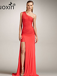 nuoxin® Women's One Shoulder Tassel Cultivate One's Morality Stretch The Bandage Sexy Very Long Dress
