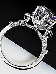 Guarantee Solid Silver 3CT SONA Simulate Diamond Women Wedding Ring Splendid Hearts and Arrows Jewelry Platinum Plated