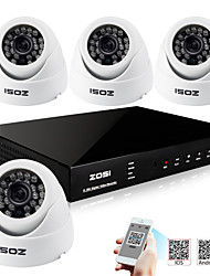 ZOSI® 8 Channel H.264 HDMI D1 DVR 4 pcs 700TVL Indoor CCTV Camera Surveillance Security System