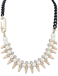 Alloy/Imitation Pearl/Rhinestone Necklace Choker Necklaces Daily 1pc