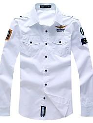 2015 shirt brand air force one men shirt long sleeve male slim fit shirt men dress shirt 4XL camisas hombre camisa masculina
