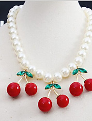 New Arrival Fashional Hot Sellign Fashional Cherry Pearl Necklace