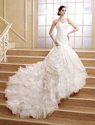 Trumpet/Mermaid Court Train Wedding Dress -Sweetheart Organza