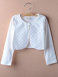 Kids Wraps Long Sleeve Lace/Polyester Sweet Flower Party/Casual Boleros White/Pink Bolero Shrug