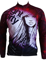 GETMOVING Cycling Jersey Women's Unisex Long Sleeve Bike Jersey Tops Anatomic Design Anti-Insect Breathable Back Pocket 100% Polyester