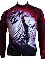 Getmoving® Camisa para Ciclismo Mulheres / Unissexo Manga Comprida Moto Respirável / Design Anatômico / Anti-Insectos / Bolso Traseiro