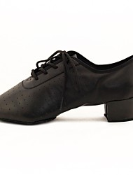 Women's Dance Shoes Modern Leatherette Low Heel Black