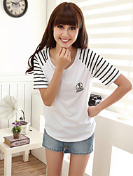 Ronde hals Vrouwen - T-shirt - Korte mouw