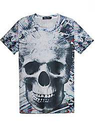 Men's Floral Print Causual Fashion Short Sleeve T-shirt