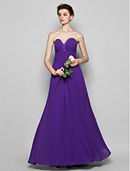Floor-length Chiffon Bridesmaid Dress - Regency Plus Sizes / Petite Sheath/Column Sweetheart