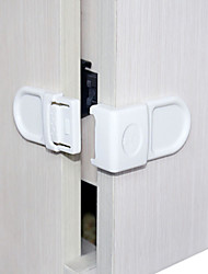 Baby Mate 6 PCS Child Proof Safety Angle Locks for Corner Drawers and Cabinets (White, 6 PCS)
