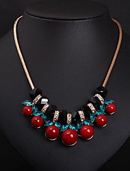New Arrival Fashional Hot Selling Popular Rhinestone Crystal Cherry Necklace