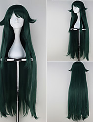 The Song Of Saya Dark Green Color Long Straight Girl's Game Cosplay Wig