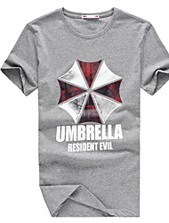 2015 New Arrival Summer Men's Casual Resident Evil Print Short Sleeve Regular T-Shirts (Cotton)