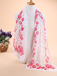 Ms new small rose chiffon scarf silk scarves