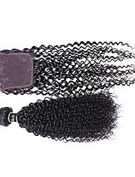 Virgin Peruvian Kinky Wave Silk Base Closures,Stock Human Hair Wholesale 3 Part Silk Base Closure