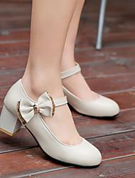 Chaussures Femme - Bureau & Travail / Habillé - Noir / Marron / Blanc - Talon Aiguille - Talons - Talons - Similicuir