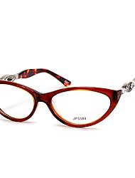 [lentes livres] acetato de gato-olho full-jante óculos de prescrição retro das mulheres