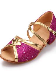 Flach - 3-6cm - Mädchenschuhe - Sandalen ( PU , Blau/Gold/Rosa/Silber )
