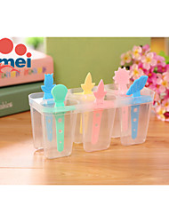 6PCS DIY  Ice Cream Mold Popsicles Mold (Random Color)