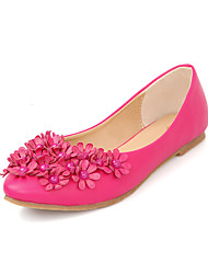Women's Shoes Flat Heel Comfort/Round Toe/Closed Toe Flats Outdoor/Office & Career/Casual Pink/Gray/Coral