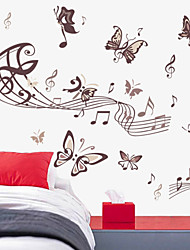 Wall Stickers Wall Decals Style Music Butterfly PVC Wall Stickers