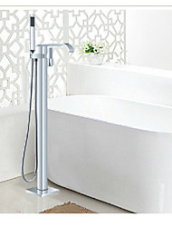 Free Standing Floor Mounted Bathroom Tub Filler Chrome Shower Faucet Mixer Tap