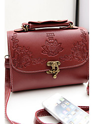 Handcee® Fashion Woman PU Embossing Horse Decoration Shoulder Bag