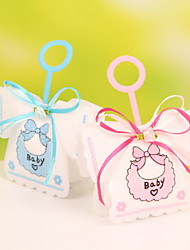 Nonwoven Fabric Wedding Candy Favor Bags Portable Favor Gift Bags Baby Dress Design Set of 12