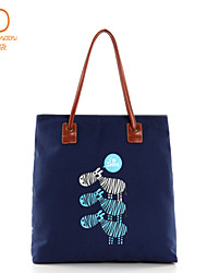 Fashional Casual Zebra Hand-printed  Canvas Bag for Young Girl