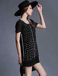 Large size women 2015 summer new slim dress simple pendulum dovetail Women's CLOTHING