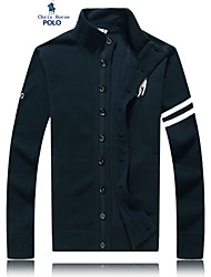 Men's Casual/Work/Formal Pure Long Sleeve Regular Jacket