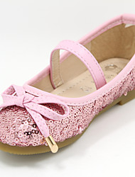 Girls' Shoes Casual Closed Toe Tulle Flats Pink/Silver/Gold