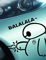 drôle heureux joli grand héros 6 baymax balalala de voiture sticker pochettes étanches autocollant de voiture style moto