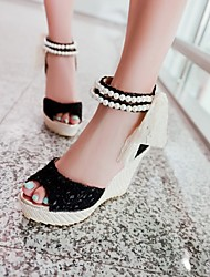 Women's Shoes  Wedge Heel Wedges/Heels/Peep Toe/Platform/Gladiator Sandals Casual Black/Beige
