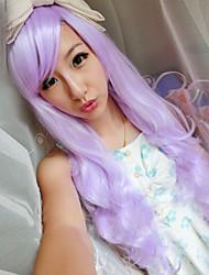 Japanese and Korean Fashion Girl Long Hair Purple Wig