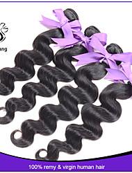 "Indian virgin hair body wave 4pcs grade 7A cheap human hair extension 8""-30"" indian hair natural black hair"