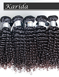 4 pcs/Lot Top Quality Peruvian Curly Hair, Raw Unprocessed Virgin Peruvian Hair