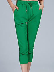 Women's Red/Black/Green Straight Pants , Casual
